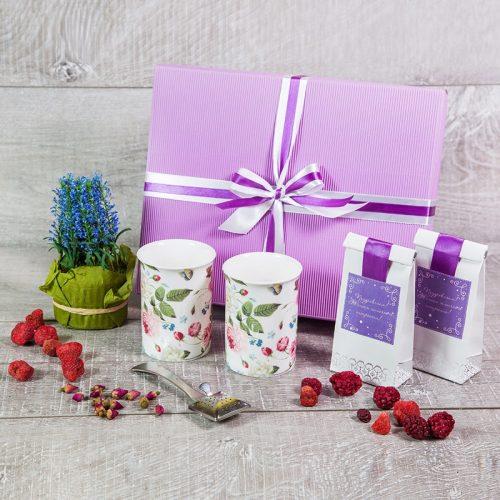 Сиреневый чайный набор