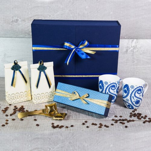 Синий чайный презент