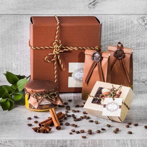 Бронзовый чайно-шоколадный подарок