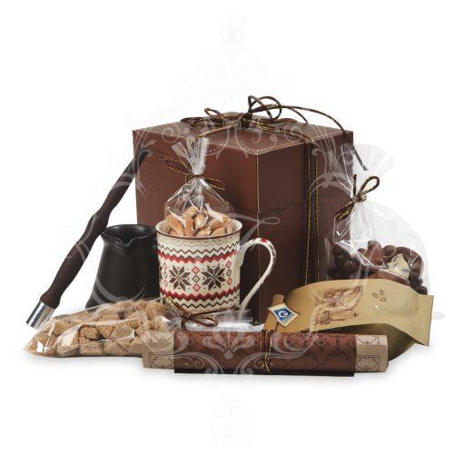 Кофейный подарок в коричневой упаковке